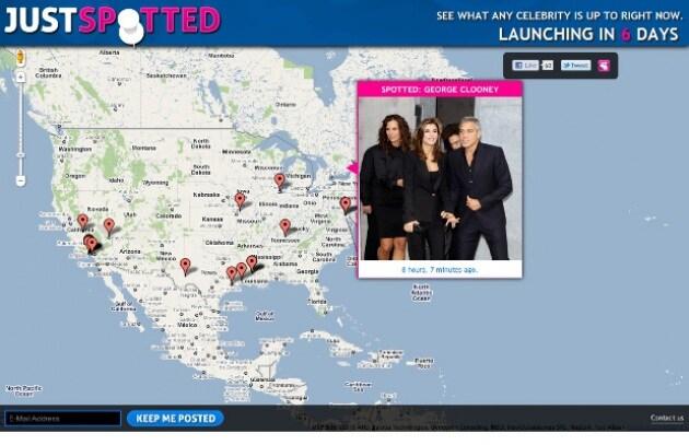 Un nuovo sito per geo-localizzare le celebrità