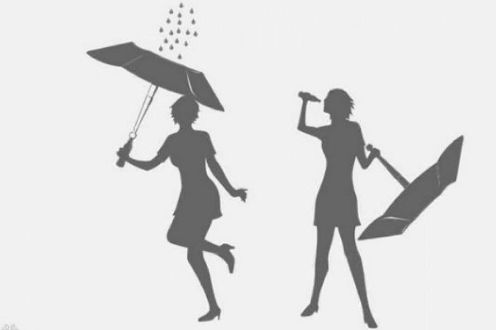 Pioggia 2.0: la bevi dall'ombrello