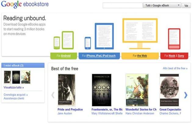 Ora con Google eBooks tutti possono leggere di più