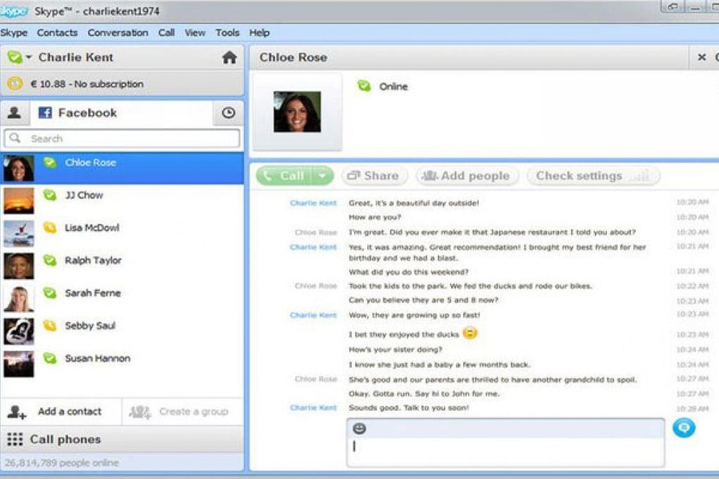 Skype per Windows si integra con Facebook