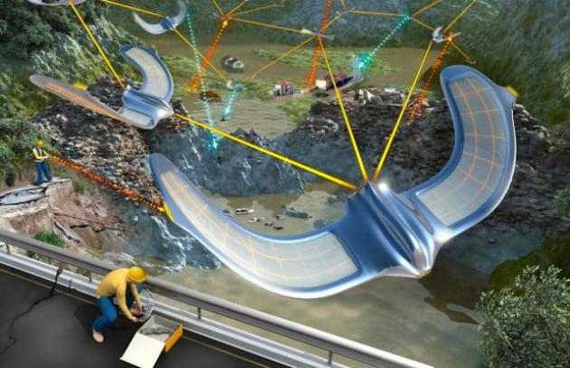 Svizzera: uno stormo di uccelli robot