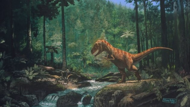 _76522424_tyrannosaurus_seen_in_a_forest-spl