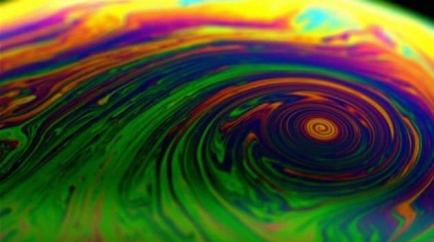 Un ciclone in una bolla di sapone