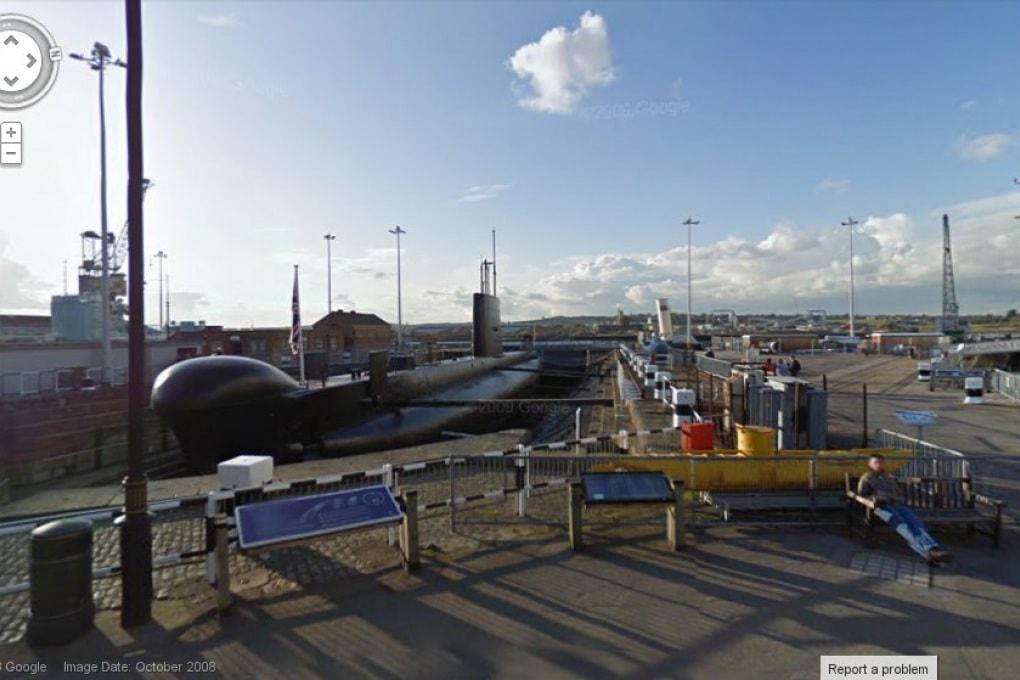 A bordo di un sottomarino con Google Street View