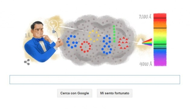 Anders Jonas Ångström, il padre della spettroscopia nel Doodle di Google