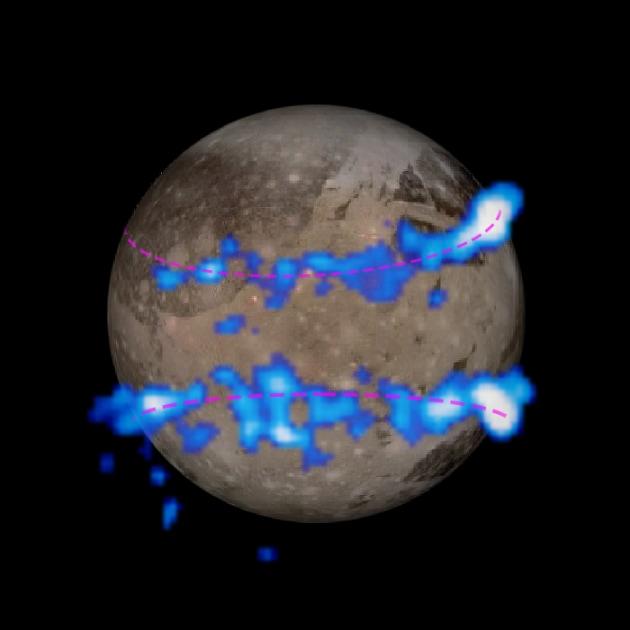 Un oceano nascosto sotto la superficie di Ganimede