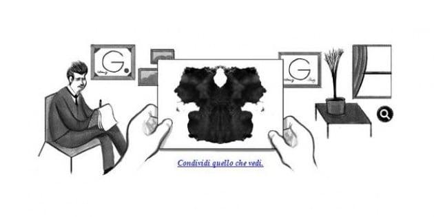 Hermann Rorschach e il suo test delle macchie protagonisti del Doodle di Google