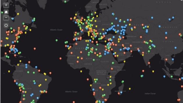 La mappa interattiva delle foto twittate dallo spazio