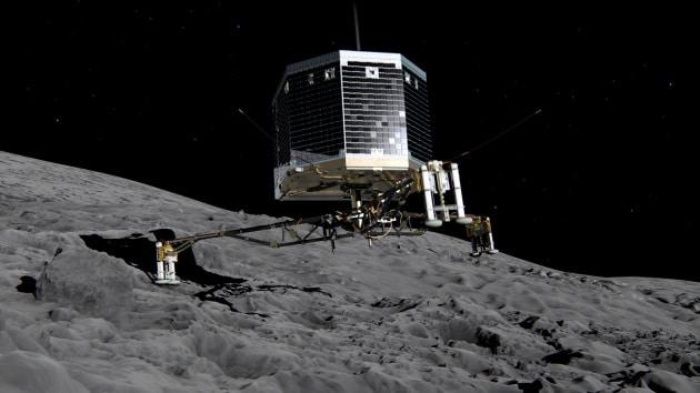 Il tonfo di Philae sulla cometa 67P