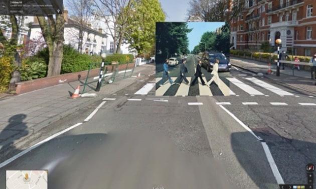 Le copertine di dischi famosi su Google Street View