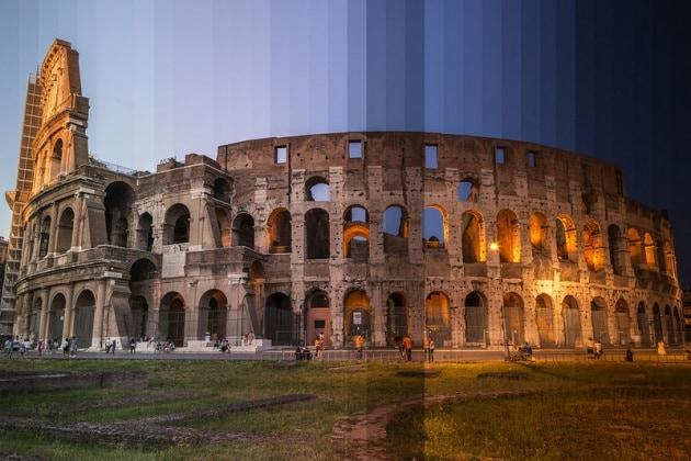 I luoghi più famosi del mondo dal giorno alla notte