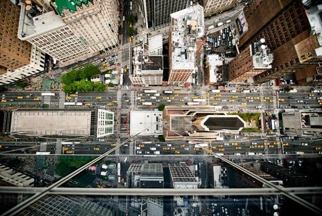 New York vista dall'alto dei suoi grattacieli