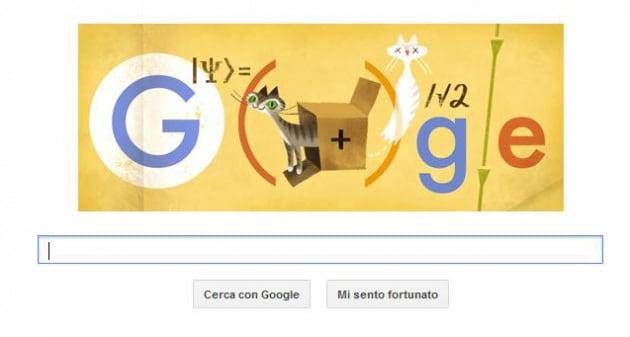 Un Doodle di Google per Erwin Schrödinger e... il