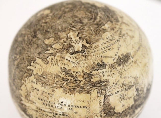 Le foto del più antico mappamondo del mondo