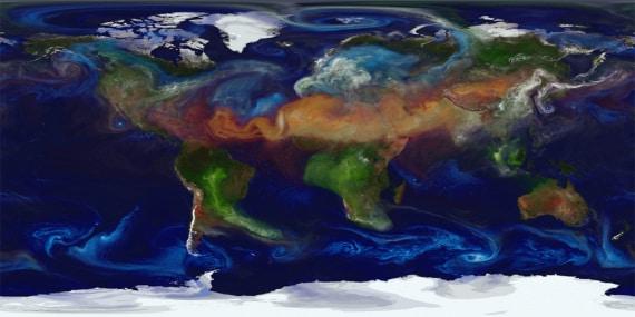 eventi climatici nell'atmosfera della Terra