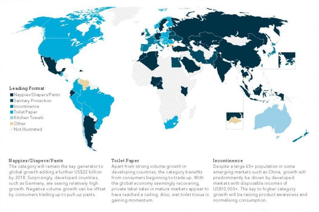 La demografia mondiale spiegata con la carta igienica