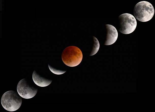 L'eclissi di Luna in video