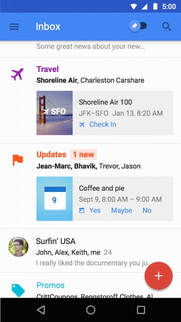 Inbox, la nuova posta elettronica by Google