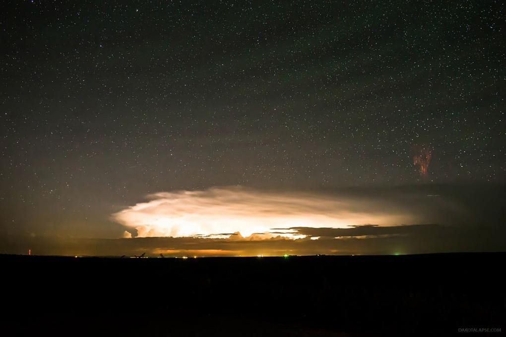 Due rari fenomeni atmosferici in un unico scatto