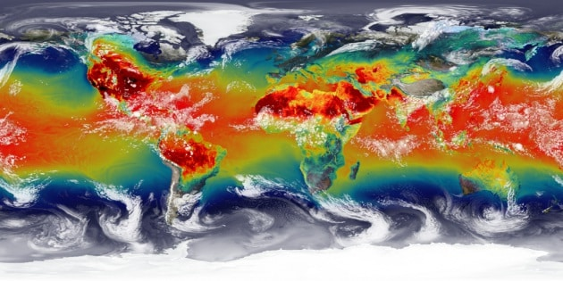 Le mappe dinamiche dell'atmosfera terrestre create dalla Nasa