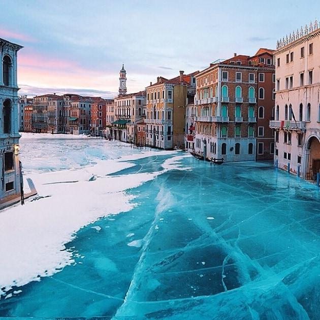Venezia invasa dal ghiaccio (ma solo su Photoshop)