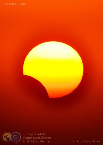 Le immagini dell'eclissi di Sole di domenica 3 novembre
