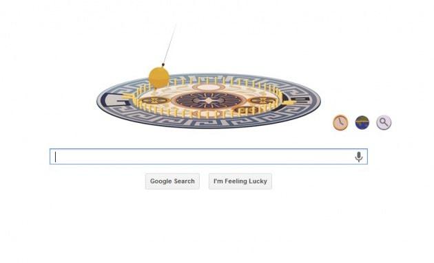 Léon Foucault e il suo pendolo nel Doodle di Google