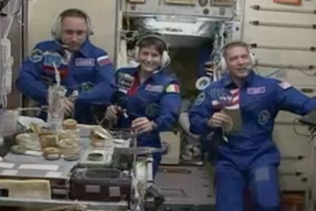 Samantha Cristoforetti è arrivata sulla Stazione Spaziale Internazionale