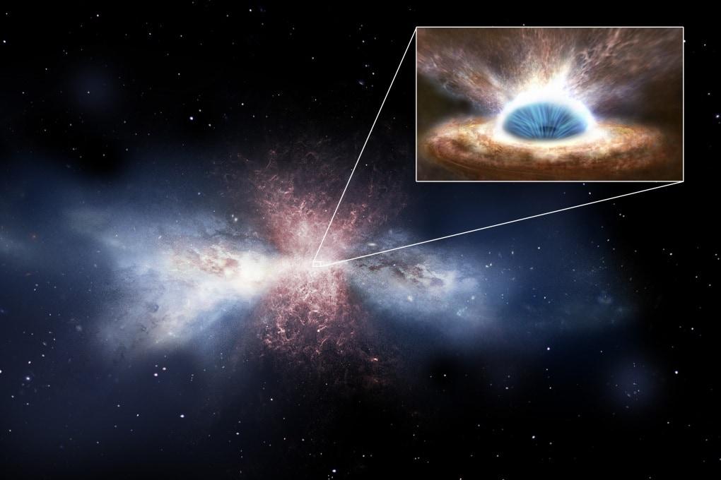 Il buco nero che rende sterile una galassia