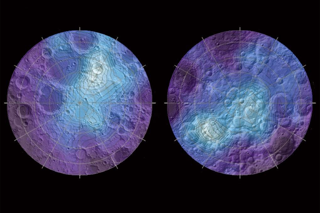 Il ghiaccio (spostato) dei poli lunari