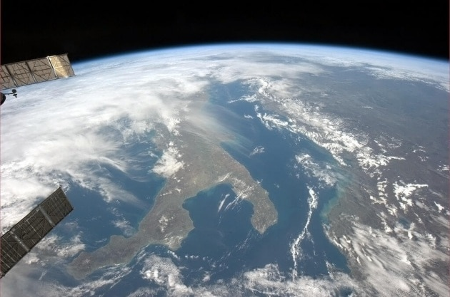 La ISS sopra all'Italia