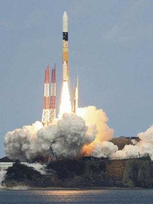 3 dicembre 2014: la sonda Hayabusa 2 comincia il suo viaggio dal centro spaziale di Tanegashima, a bordo di un razzo H2A.