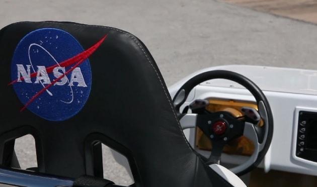 L'auto elettrica della Nasa che fa le sgommate
