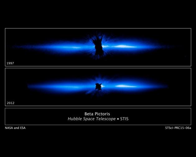 Hubble fotografa il disco di polveri di Beta Pictoris
