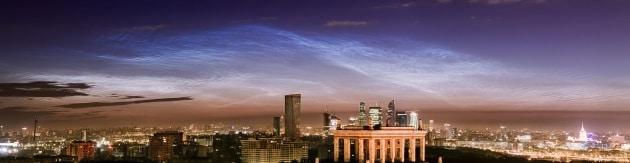 Nubi nottilucenti su Mosca