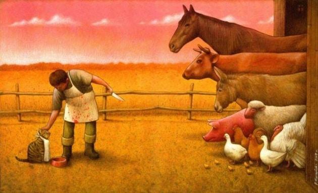 Le ciniche illustrazioni di Pawel Kuczynski