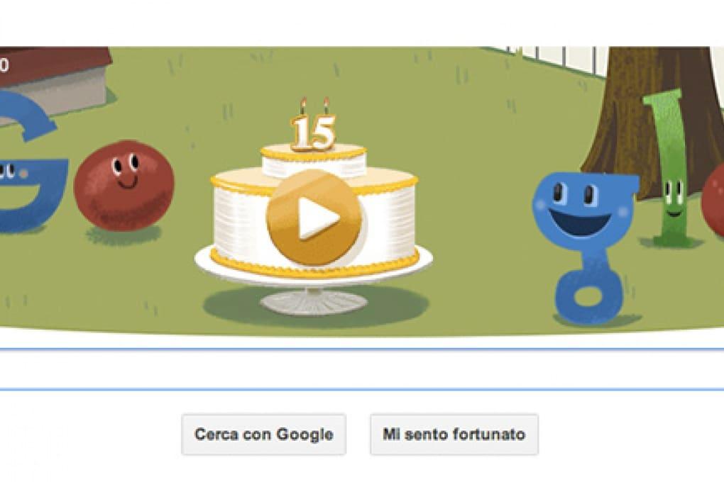 Un Doodle per i 15 anni di Google
