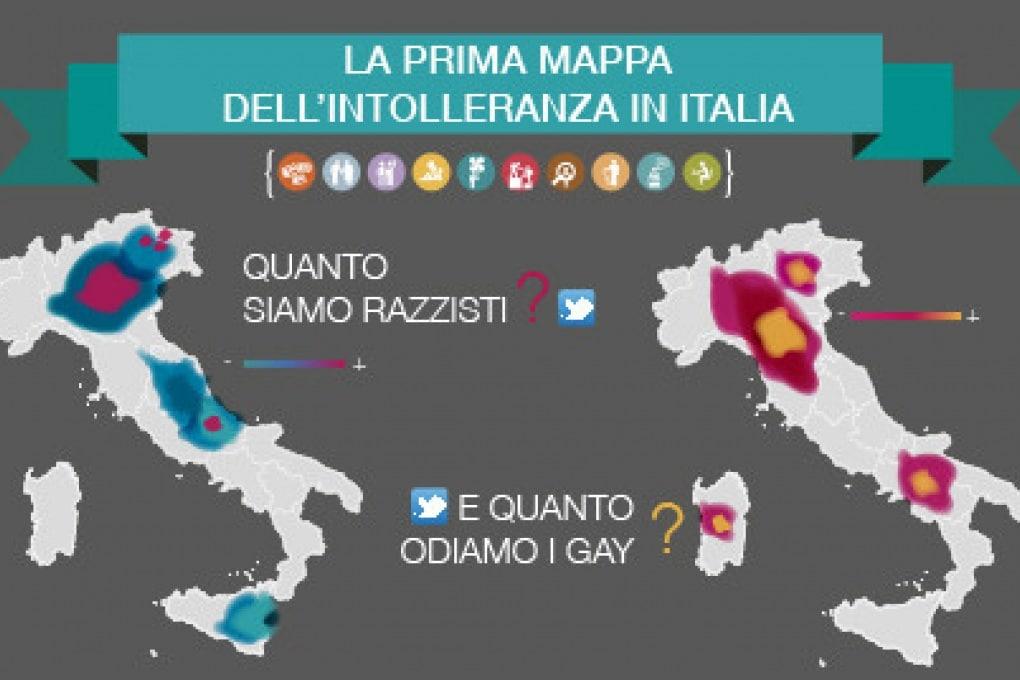 La mappa italiana dell'odio e dell'intolleranza
