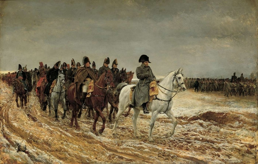 1814-campagne-de-france-napoleon-and-his-staff-returning-from-soissons-after-the-battle-of-laon-1864