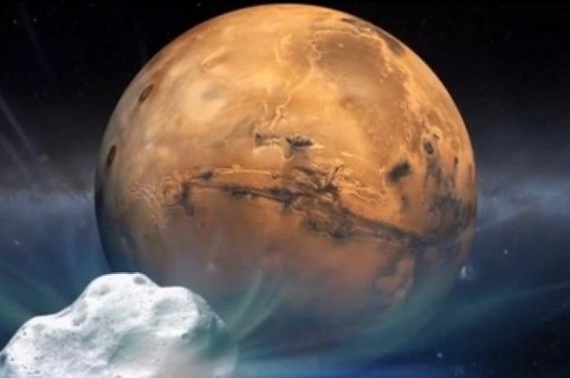 Siding Spring, la cometa che punta verso Marte