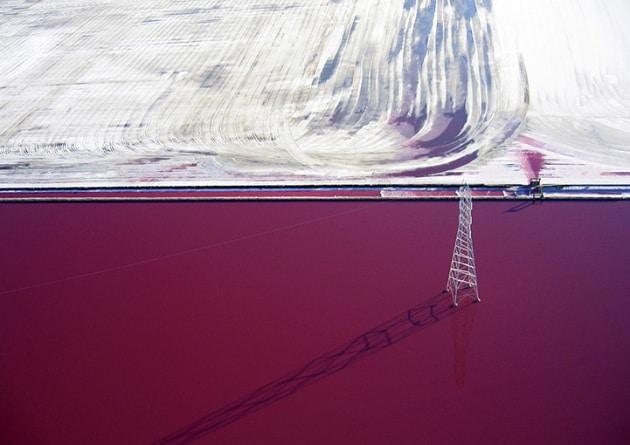 Le saline di San Francisco fotografate da un aquilone