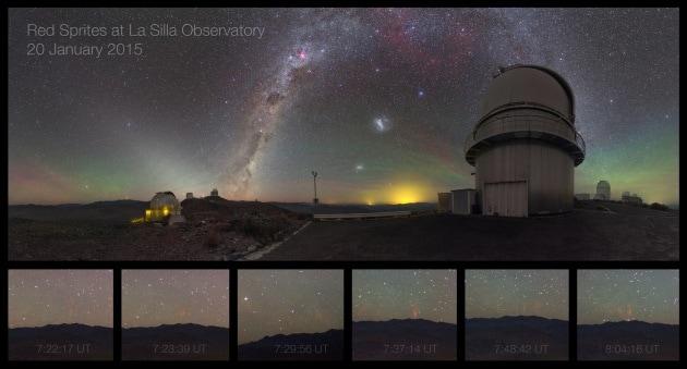 Spettri rossi fotografati a La Silla