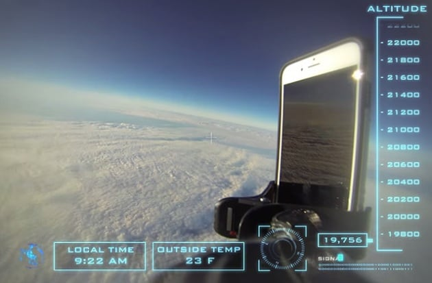 iPhone nello spazio: la caduta più lunga di sempre