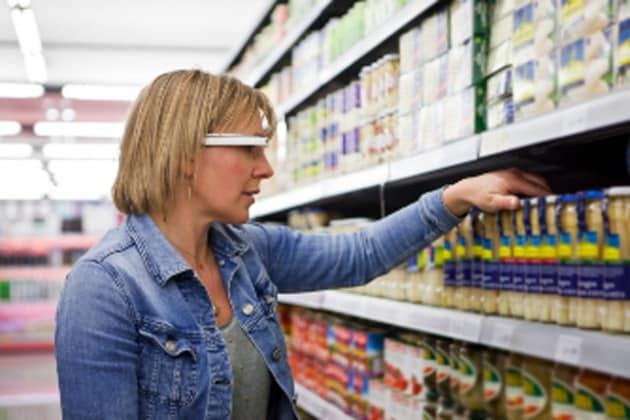 Google Glass legge i codici a barre