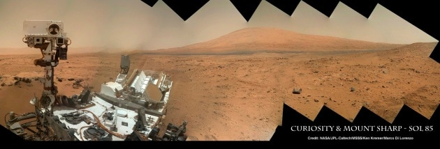 Marte: Curiosity alle pendici di Mount Sharp