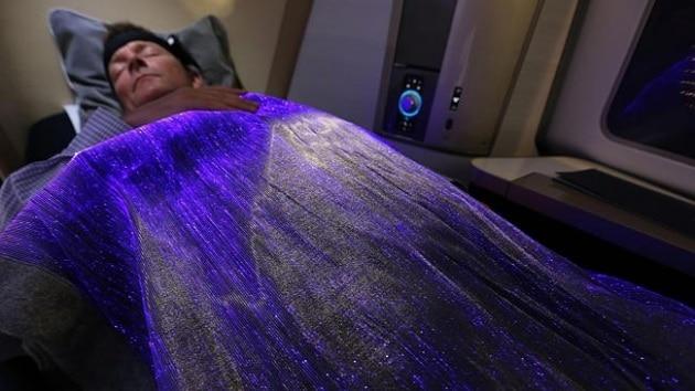 La coperta che misura lo stress in volo