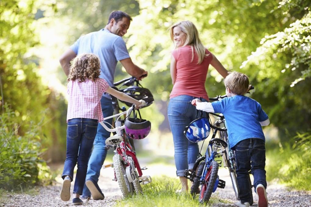 Gita in bici in famiglia? Tutta salute!