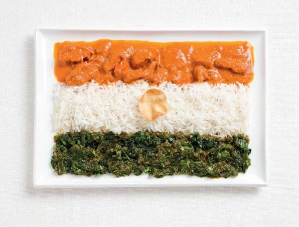 7india-flag-made-from-food