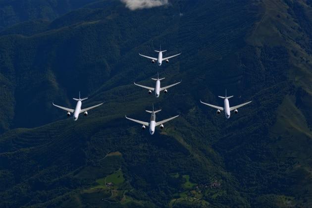 Airbus A350 XWB: il nuovo jet vola in formazione?