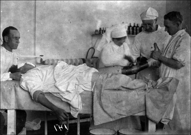 Quando la tintura di iodio salvava i soldati
